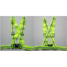 Yellow reflective safety belt