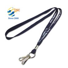 Cordones tubulares de encargo económicos con el logotipo modificado para requisitos particulares impresa