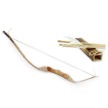 arco recurvo de arco e flecha composto de madeira