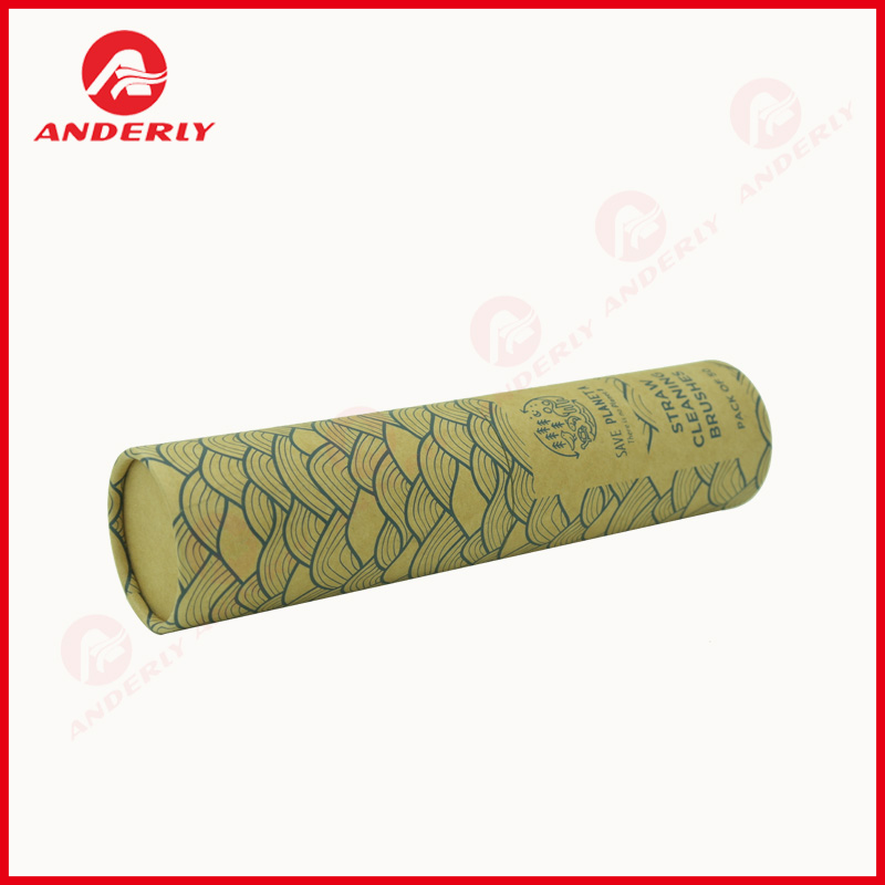 Custom Brush Packaging Round Paper Box