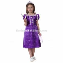 2017 novo design do bebê menina vestido de princesa menina do bebê cosplay princesa frock design dress