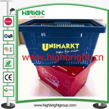 100% nuevo plástico PP mano cesta de compras