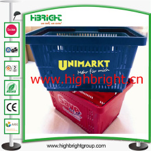 100% New PP Plastic Hand Shopping Basket