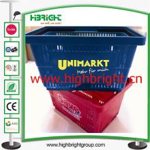 100% New PP Plastic Hand Shopping Basket