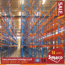 Warehouse narrow aisle pallet racking Heavy Duty Pallet Racking System Easily Accessible