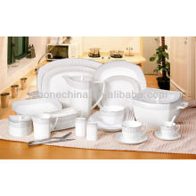 hot sale square shape Germany design 97pcs new bone china plate