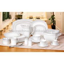 Оптовые 2014 новых проектов штраф кость фарфора посуда столовая столовый набор