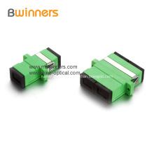 Flange simples frente e verso dos acopladores da fibra óptica do LC do plástico