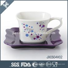 2015 neue Porzellan quadratischen Keramik und Porzellan Kaffee-Sets