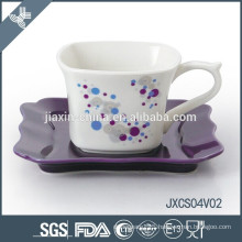 2015 new porcelain square ceramic and porcelaine coffee sets