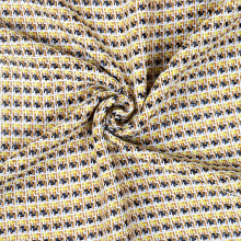 Beige Cotton Brocade Jacquard Fabric