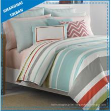 6 Stück Mehrfarbige Streifen Gedrucktes Polyester Tröster Set
