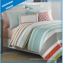 6 Piece Multicolor Stripes Printed Polyester Comforter Set