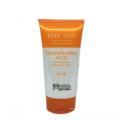 orange plastic container for cosmetic foam tube 110ml