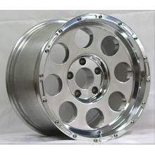 17X9 Fake Bead-Lock Alloy Wheel Rims Polished