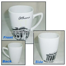 AThens City Design 11OZ Porcelain Square Cup For BS130601A