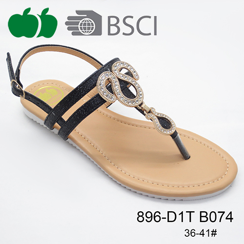 lady beautiful flat sandal