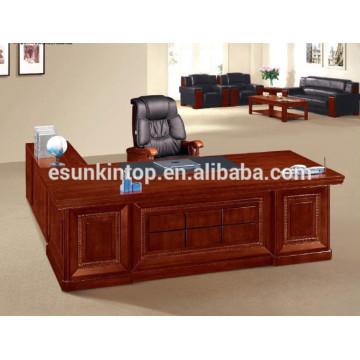 Walnut wood veneer office desk