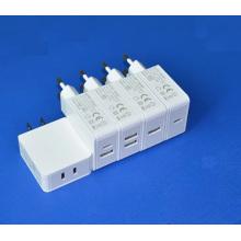Cargador dual de la pared del puerto del cargador 2 del tipo-C del USB 2 de 5V 2.4A