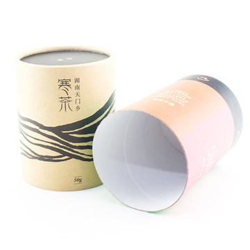 Round Eco-Friendly Tea Kaffepaket Presentpapper