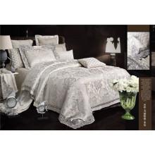 Brillante lujo bordado Jacquard 7 piezas de edredón juego de cama de cubierta