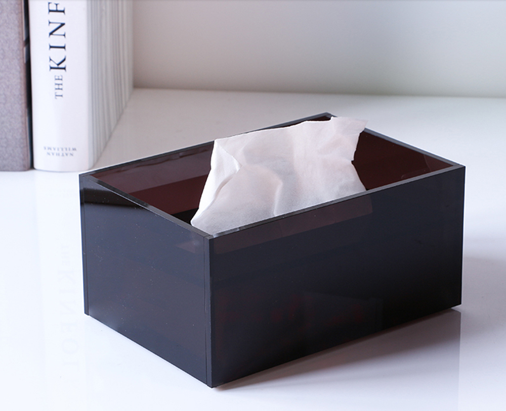 Acrylic Tissue Box Brown