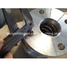Aluminium 6061 T6 Bride à bride de soudure forgé, bride de plaque, joint en aluminium 6061 T6