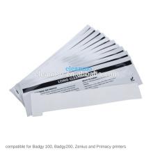 Kit de limpieza de la impresora de tarjetas de identificación 200/100 Paquete de 10 para la impresora de tarjetas Evoli Badgy