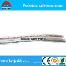 Flat Twin Cores Transparent Speaker Cable CCA