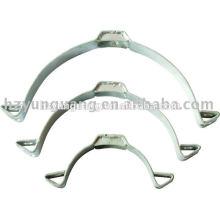 correa de grillete de acero prensado en caliente abrazadera de tubo de acero galvanizado poste de potencia polo poste eléctrico instalar accesorios