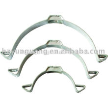 pressed steel shackle strap hot-dip galvanized steel pipe clamp power pole band electric pole install fittings