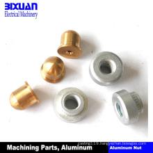 Machining Part Aluminum Nut Brass Nut Turning Parts