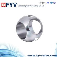 Balón de tres vías para válvula de bola / componente de válvula