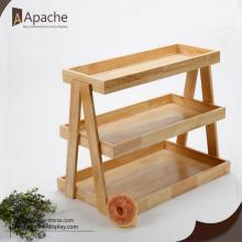 High reputation for for Supply Wooden Display Rack,Wooden Display Shelf,Wooden Display Stand to Your Requirements Cake and Bread Retail Store Counter Display supply to Tanzania Exporter