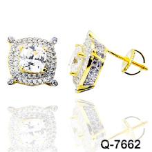 Novo design 925 jóias de moda prata micro pave ear studs (q-7662)