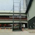 Warehouse crane Guide rail hydraulic lift platform