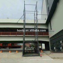 Warehouse crane Guide rail hydraulic lift platform