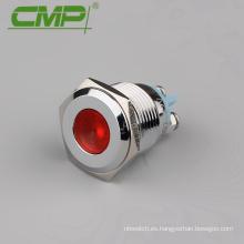 Lámpara de señal plana de 16 mm o 12v o 24v