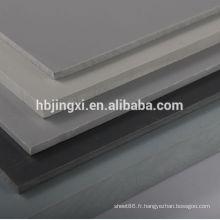 Feuilles de PVC rigides grises pour réservoirs chimiques