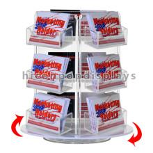 Loja de Livros Cartões de atacado Racks de bancada barata de titulares de acrílicos Rotating Gift Card Display