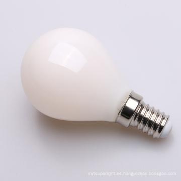 Lechoso interior de luz de filamento de luz de vela LED C45 2W 4W