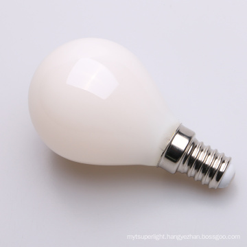 Milky inside led candle stright filament light C45 2W 4W