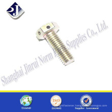 hex bolt zinc plated thread bolt with hole in head