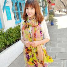 Die Fabrik Custom Yellow Silk Crepe Georgette X-Large Schal