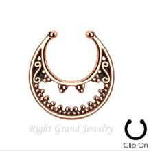 Nariz do indiano ouro anel nenhum Piercing piercing falso Piercing septo