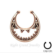 Gold Indian Nose Ring None Piercing Nose Ring Fake Septum Piercing