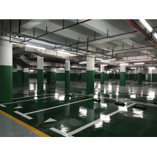 Brilliant green waterborne epoxy floor paint