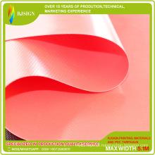 Lona revestida em cor vermelha, feita sob encomenda, em lona de PVC