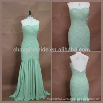 Elegantes verpacktes Hüfte-Reißverschluss-rückseitiges langes Chiffon- Brautjunfer-Kleid unter 100