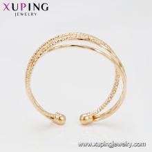 51857 venda quente 20 gramas banhado a ouro 4 pçs / set multi camada elegante pulseiras